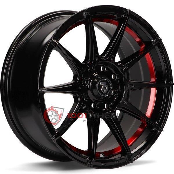 79Wheels SCF-F gloss-black-red-inside-lip