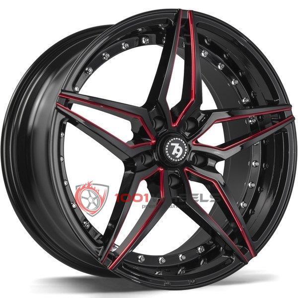 79Wheels SV-AR gloss-black-red-mill
