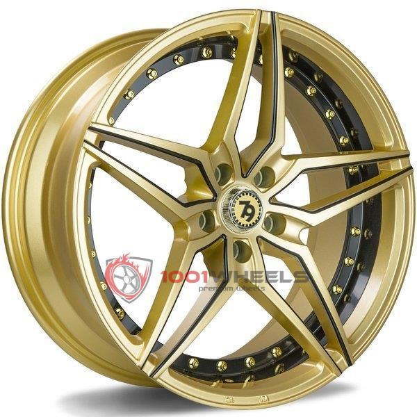 79Wheels SV-AR gloss-gold-black-mill