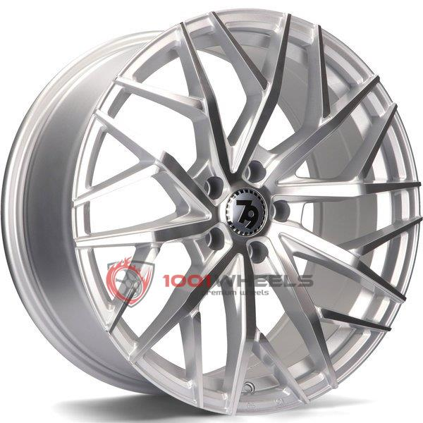 79Wheels SV-C silver-polished-face