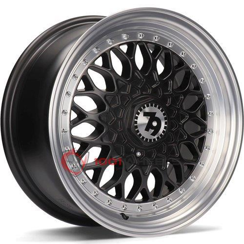 79Wheels SV-E matt-black-polished-lip