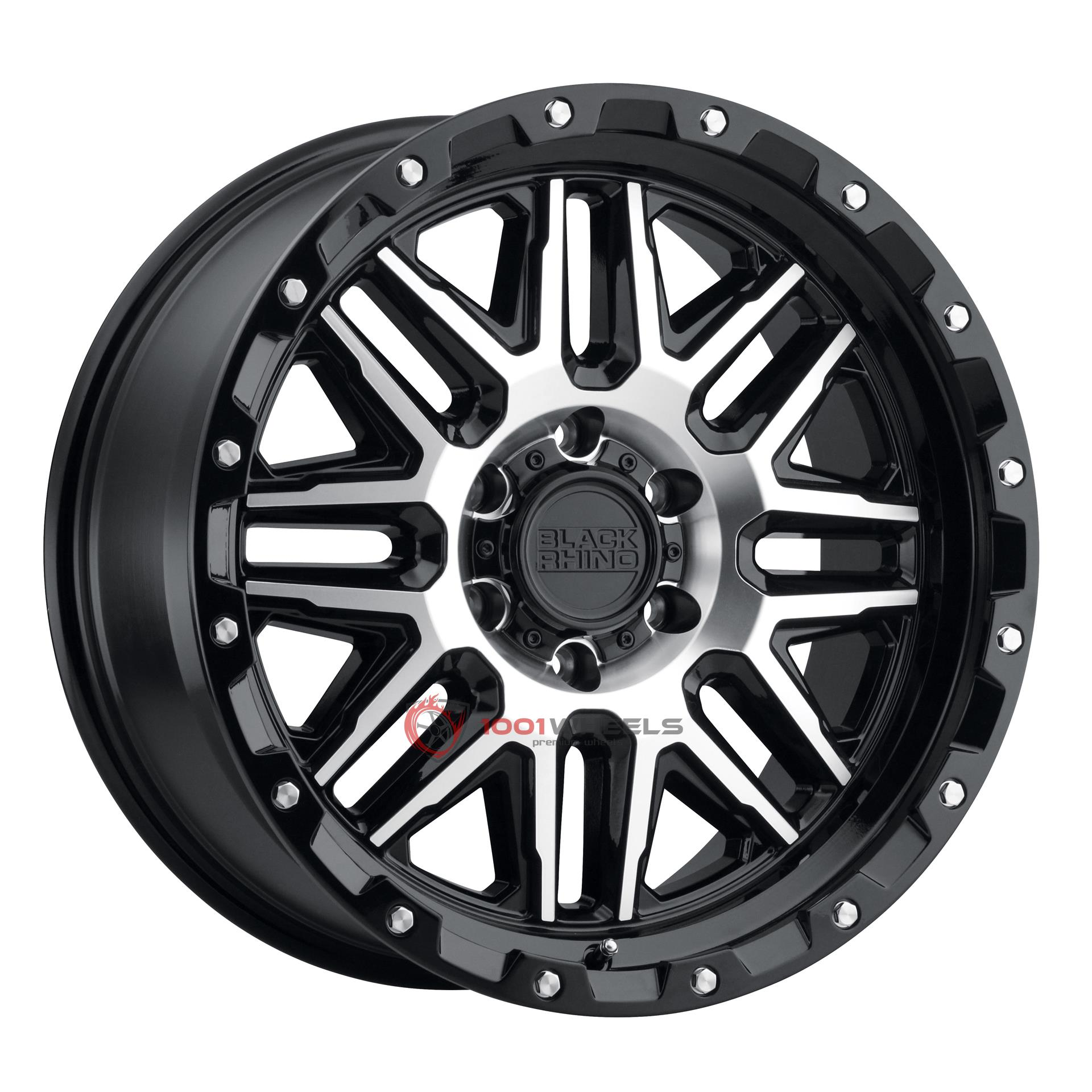BLACK RHINO ALAMO gloss-black-wmachined-face-and-stainless-bolts