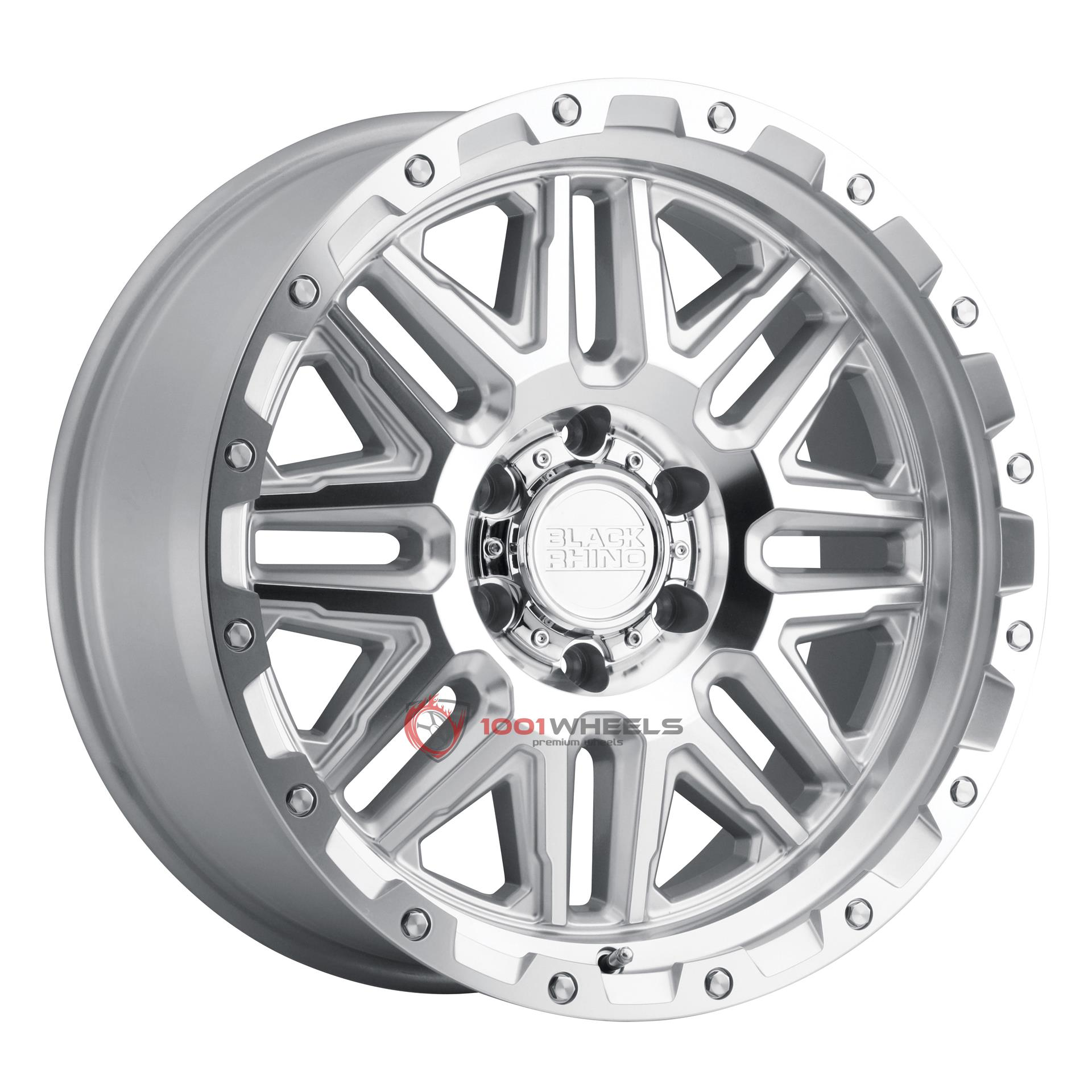 BLACK RHINO ALAMO silver-wmirror-face-and-stainless-bolts