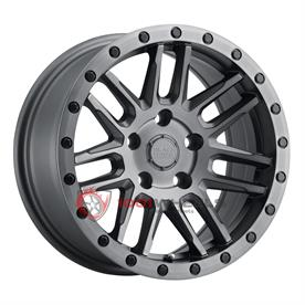 BLACK RHINO ARCHES matte-brushed-gunmetal-w-black-bolts