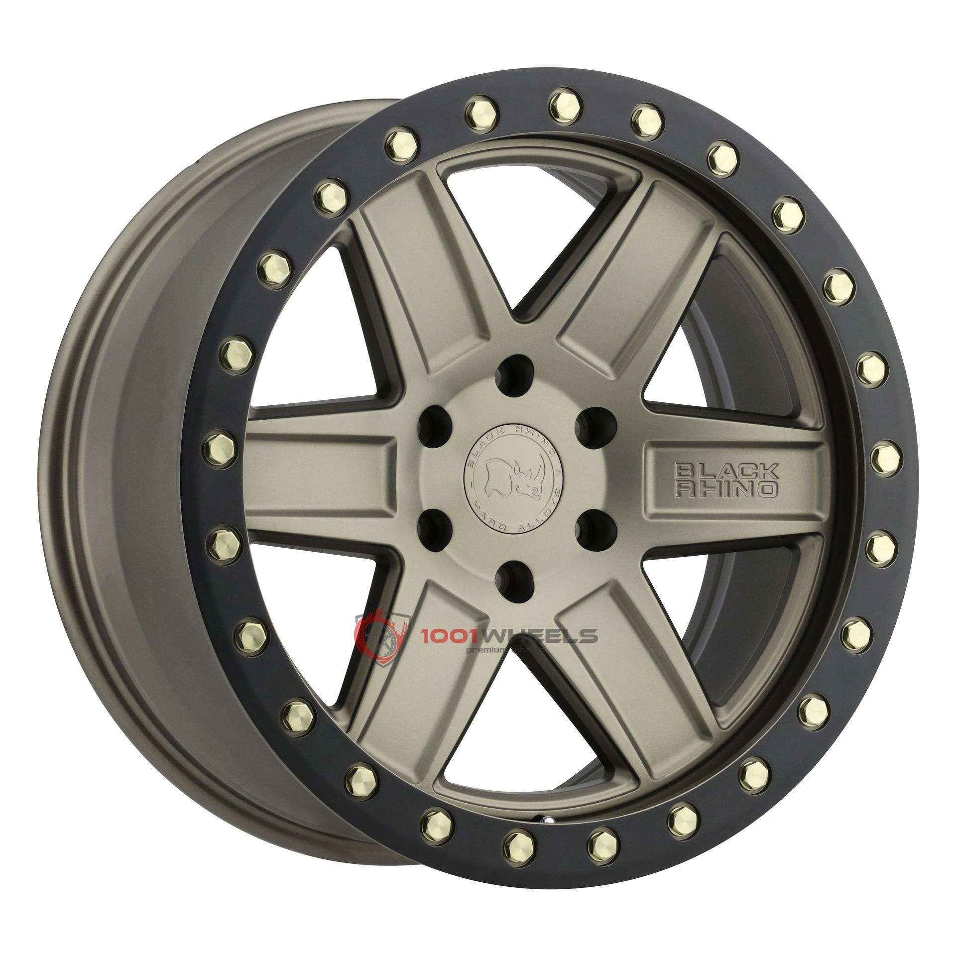 BLACK RHINO ATTICA matte-bronze-wblack-lip-edge-and-brass-bolts