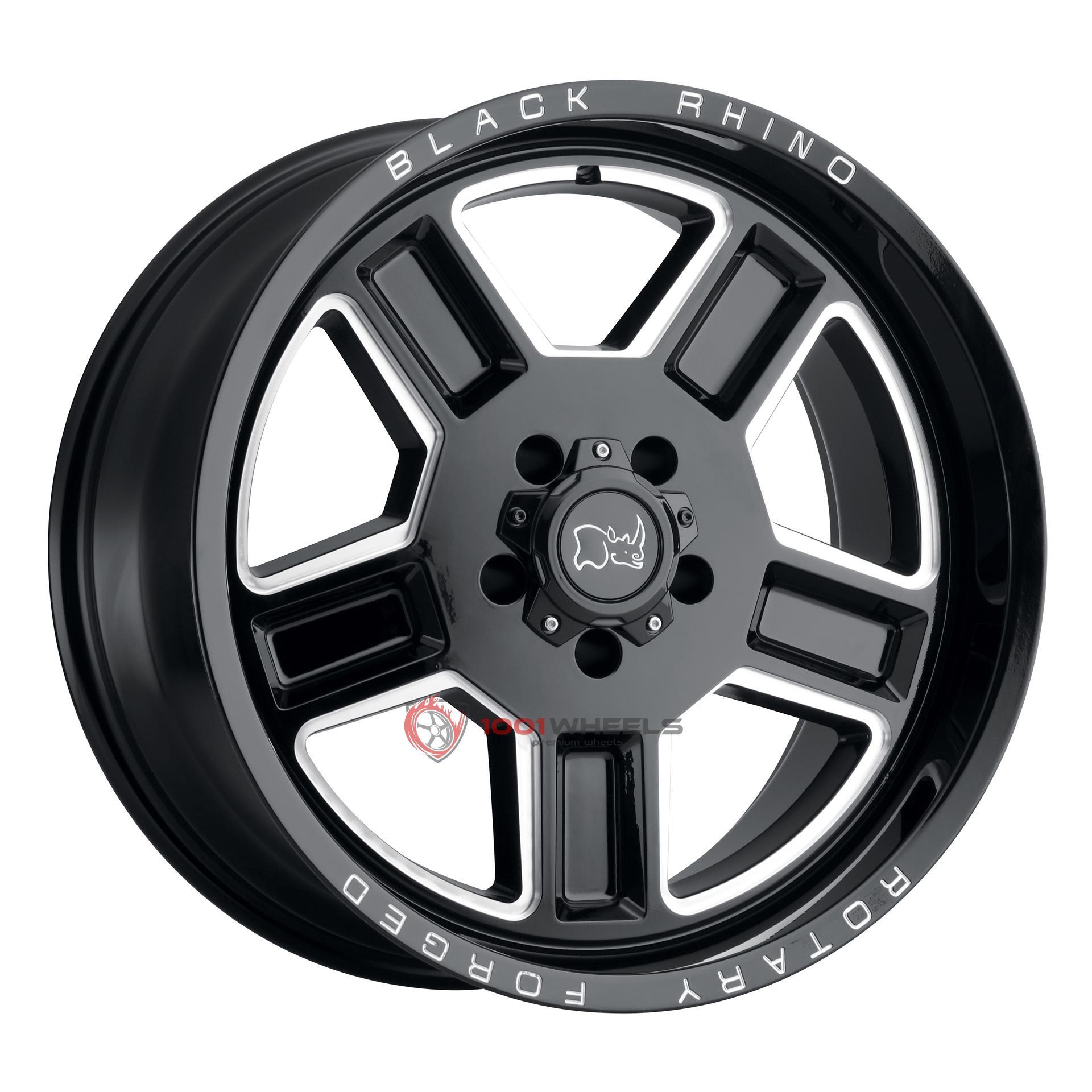 BLACK RHINO CANON gloss-black-wmilled-spoke