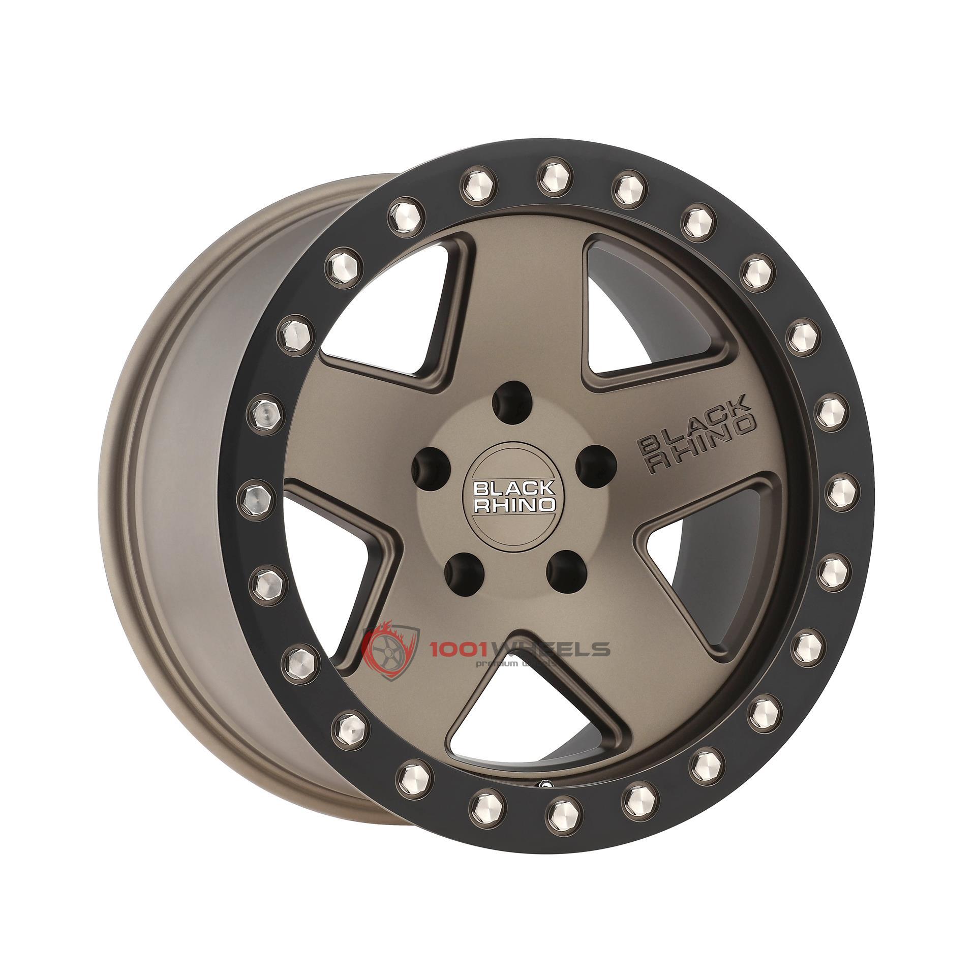 BLACK RHINO CRAWLER matte-bronze-wblack-lip-ring