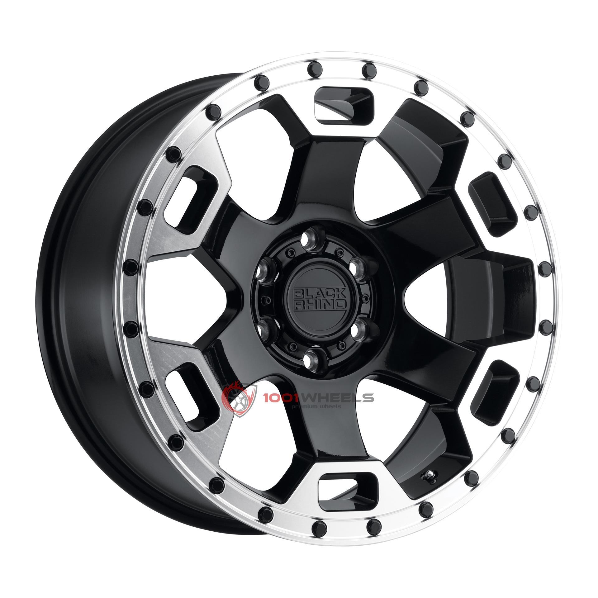 BLACK RHINO GAUNTLET gloss-black-wmirror-machined-lip-edge
