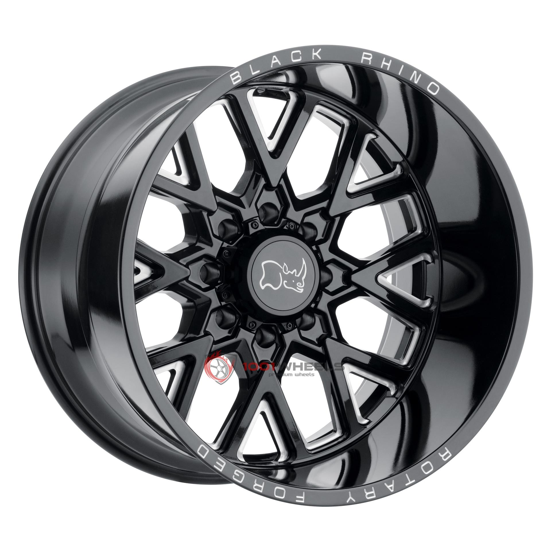 BLACK RHINO GRIMLOCK gloss-black-wmilled-spokes