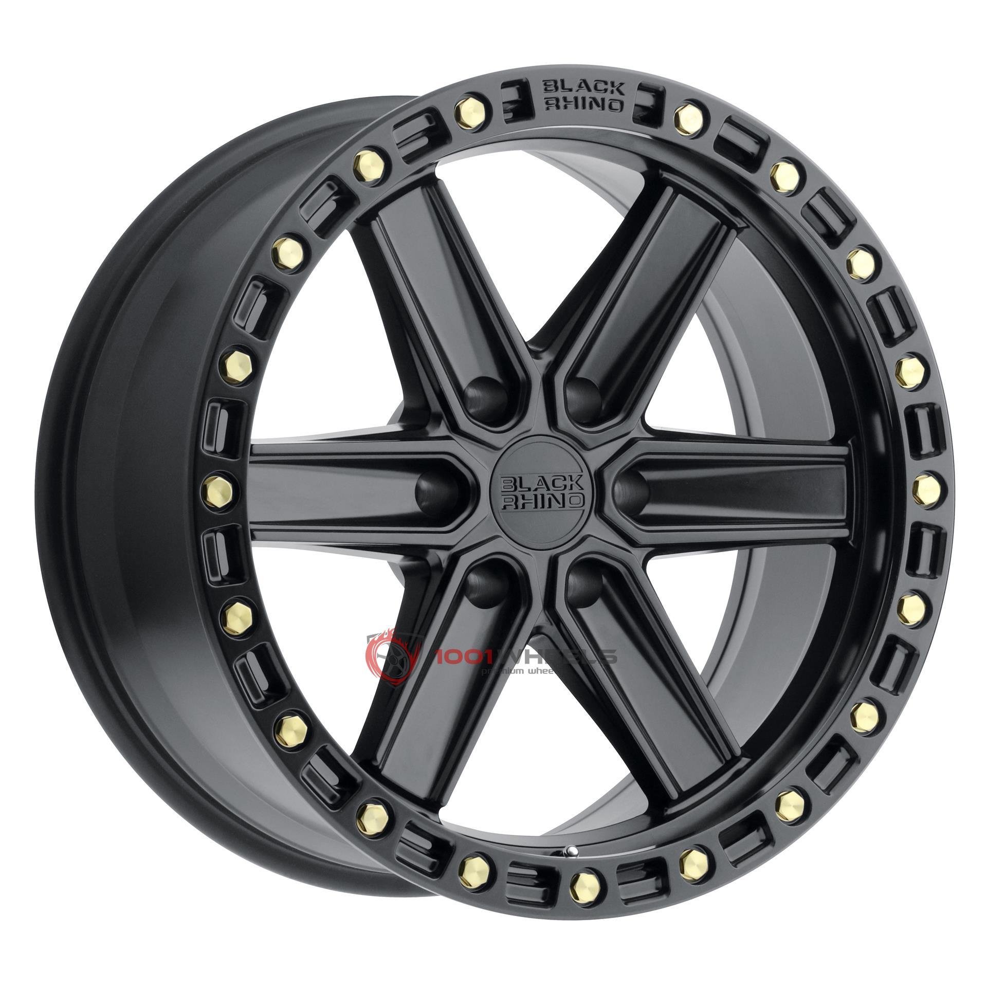BLACK RHINO HENDERSON matte-black-wbrass-bolts