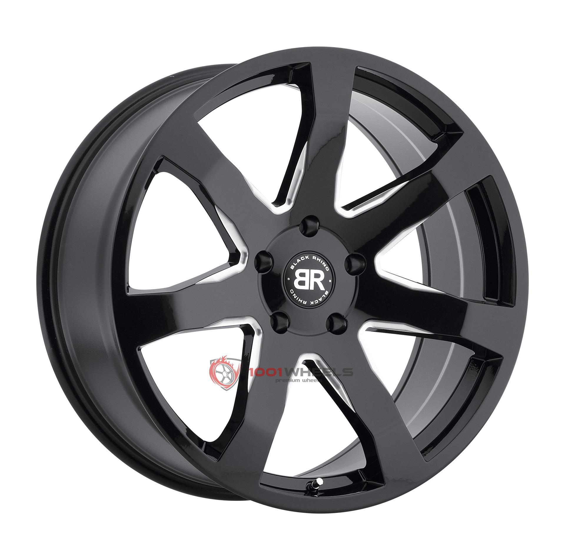 BLACK RHINO MOZAMBIQUE gloss-black-wmilled-spokes