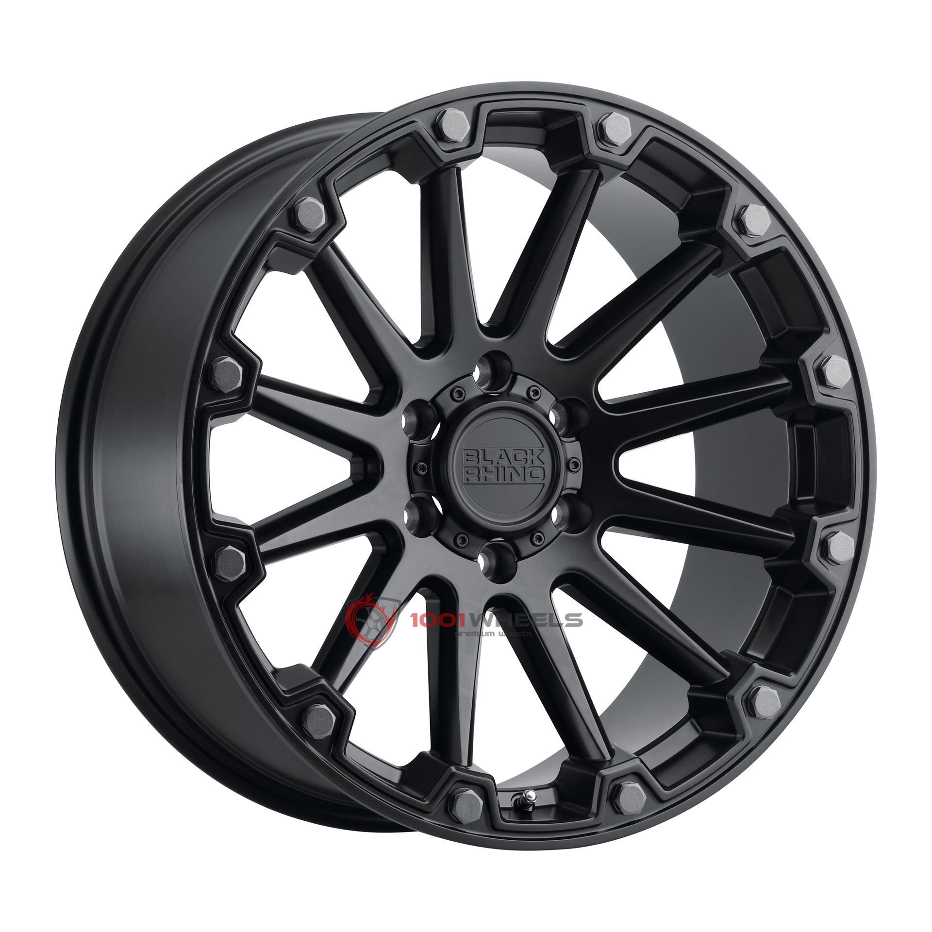 BLACK RHINO PINNACLE semi-gloss-black-wgunmetal-bolts