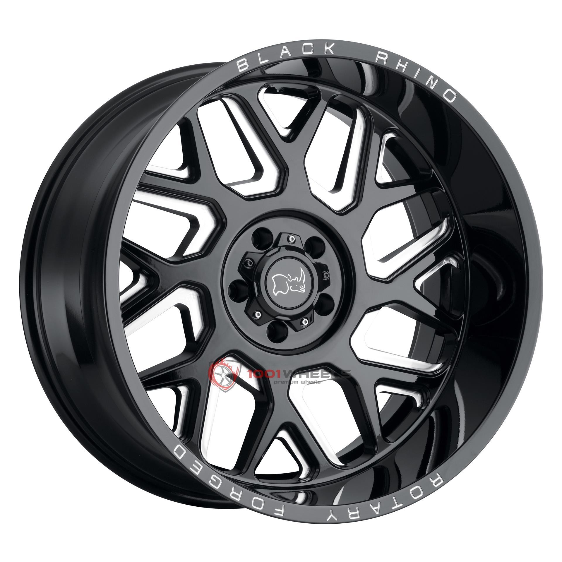 BLACK RHINO REAPER gloss-black-wmilled-spokes