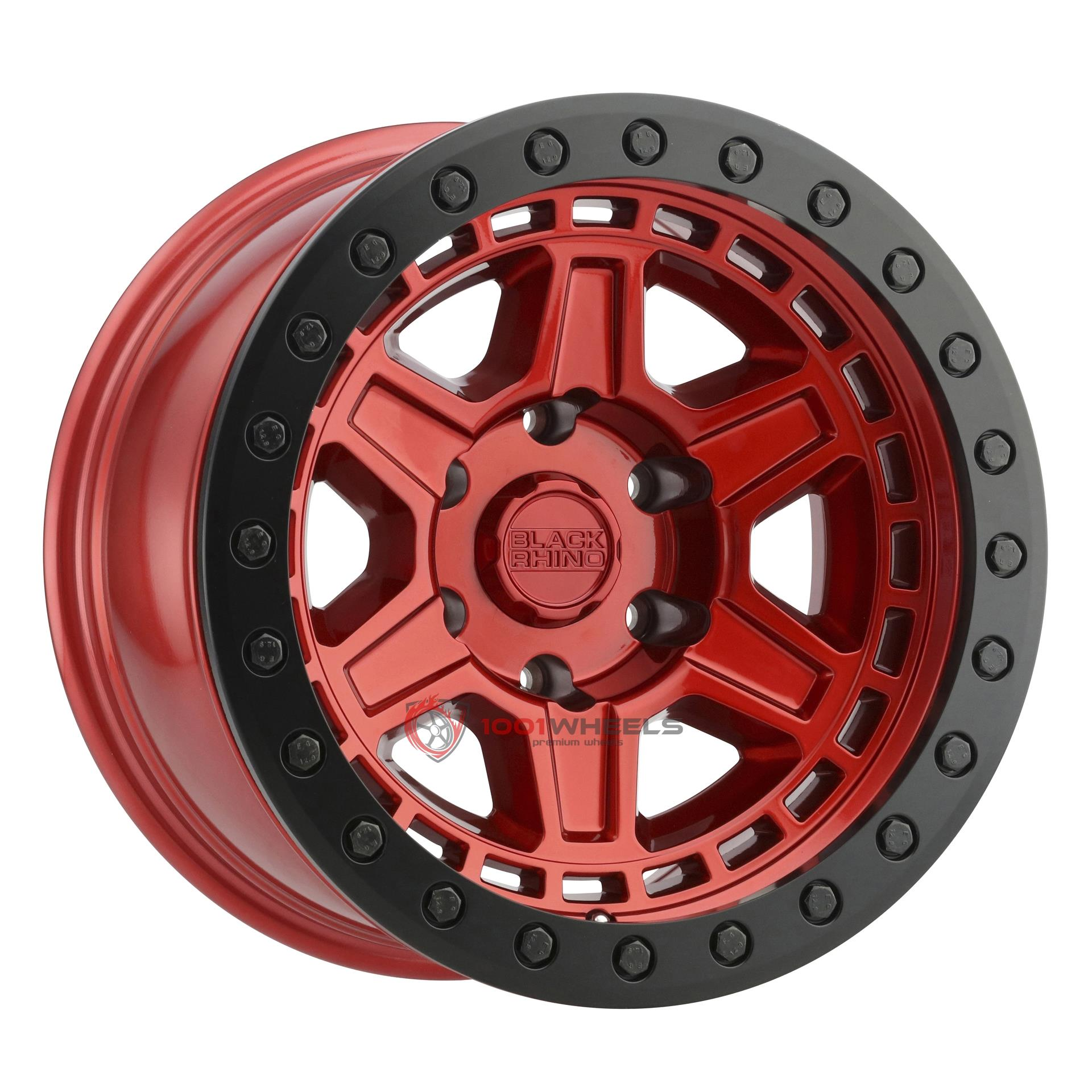 BLACK RHINO RENO BEADLOCK candy-red-w-black-ring-and-black-bolts