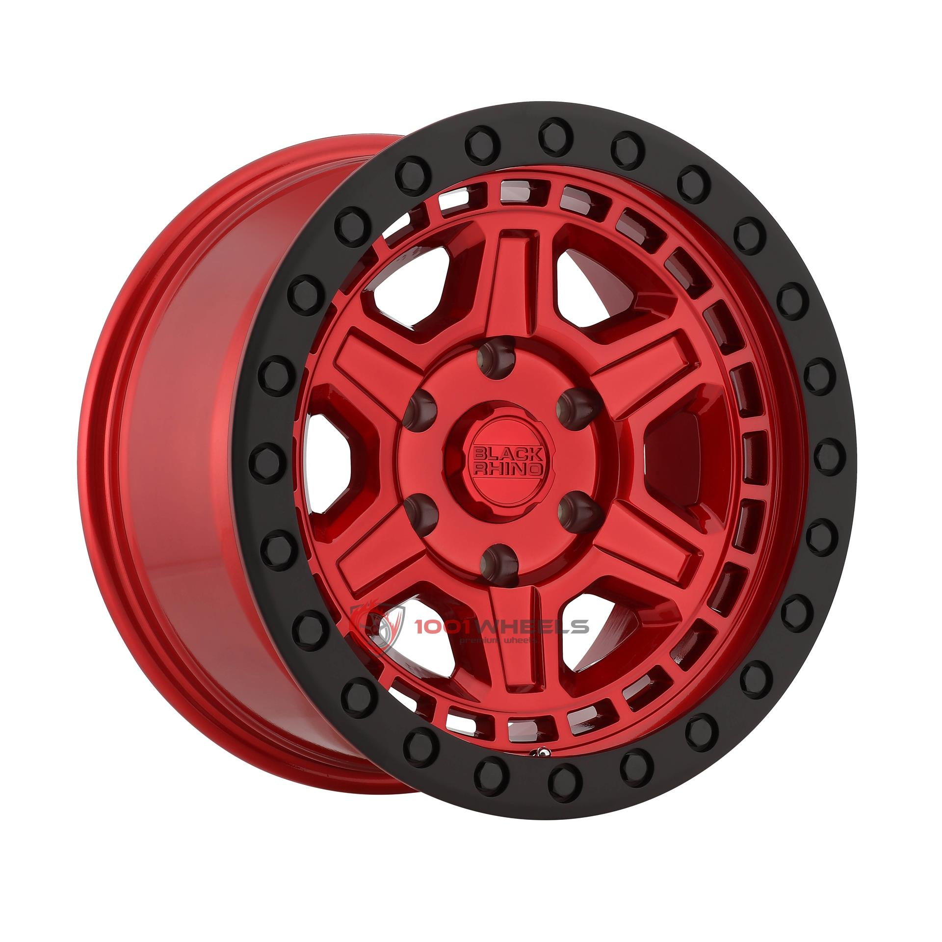 BLACK RHINO RENO candy-red-w-black-lip-edge-and-black-bolts