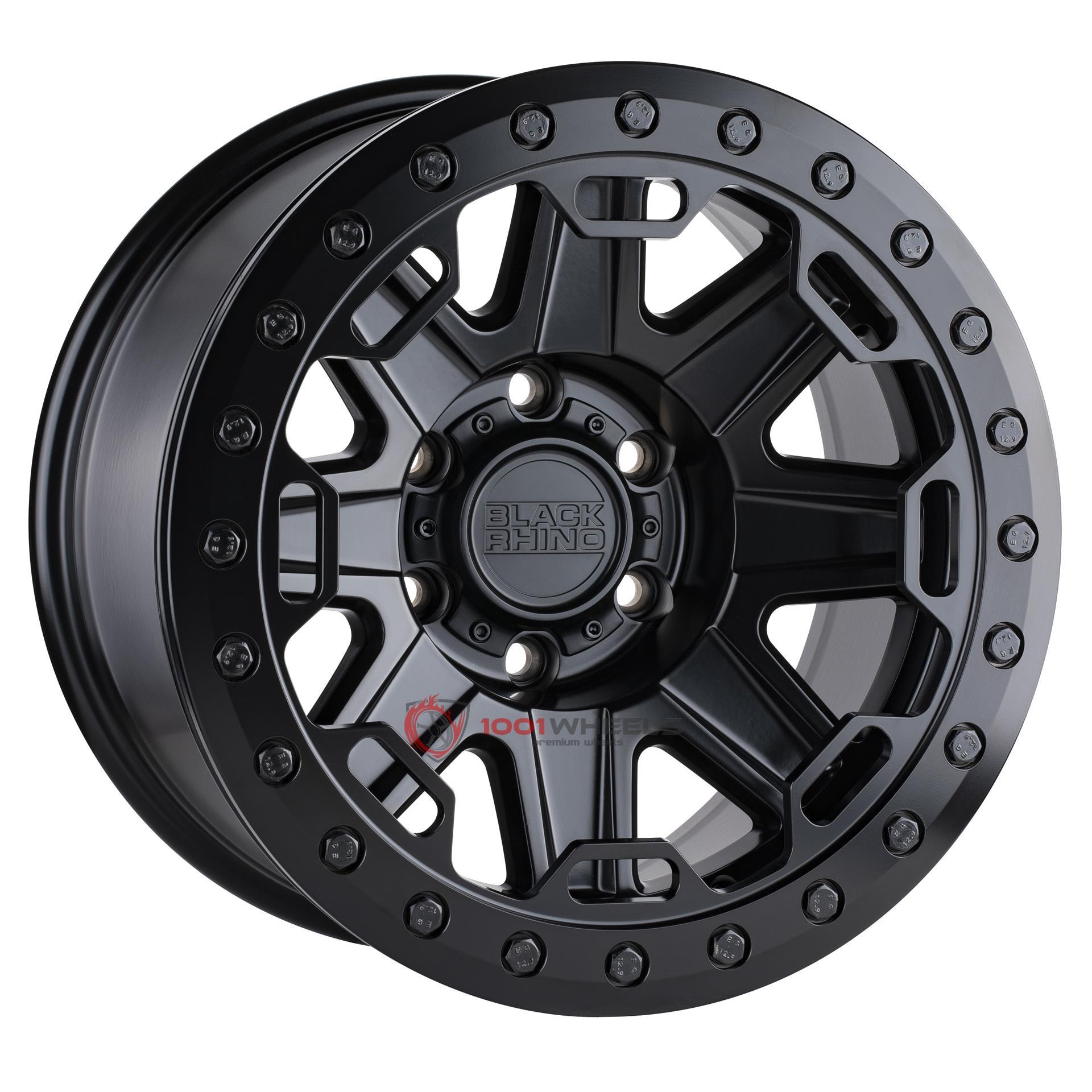 BLACK RHINO RIFT BEADLOCK matte-black-wblack-bolts