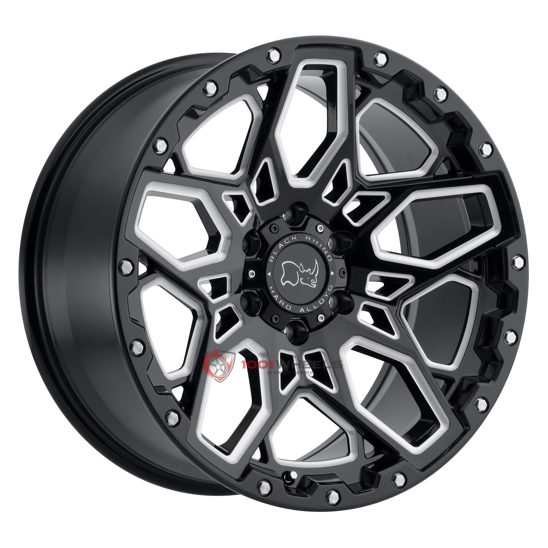 BLACK RHINO SHRAPNEL gloss-black-wmilled-spokes