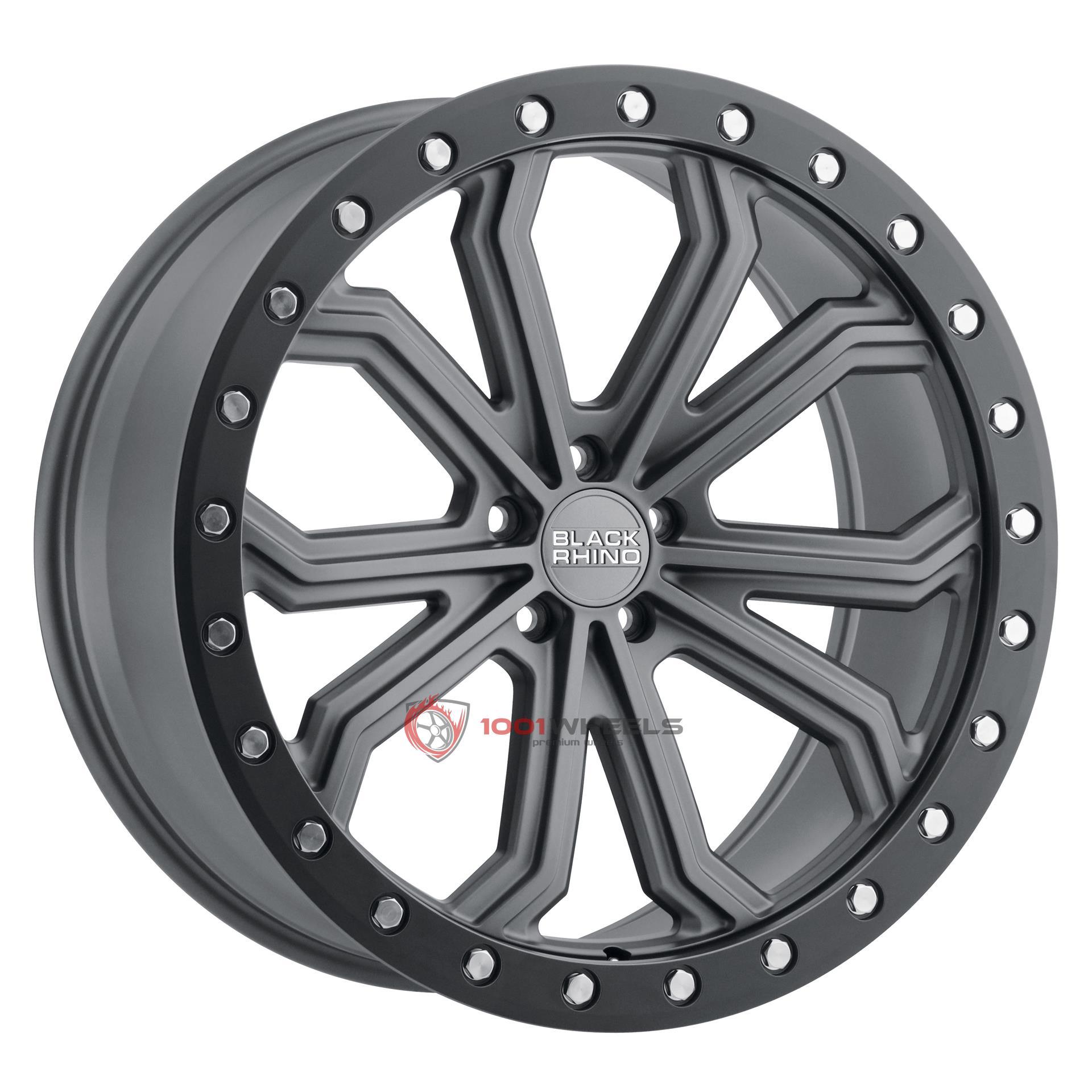 BLACK RHINO TRABUCO matte-gunmetal-wblack-lip-edge-and-silver-bolts