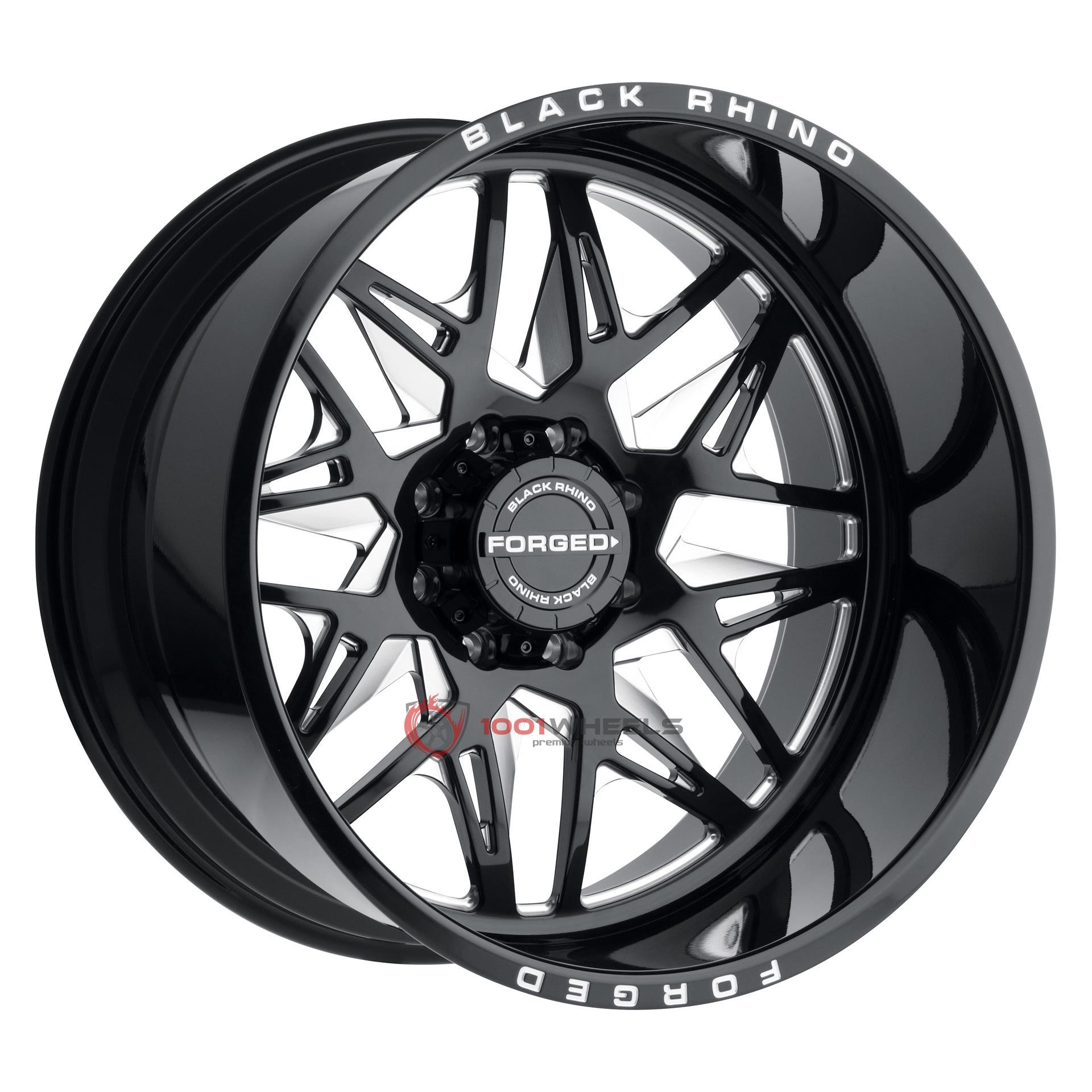 BLACK RHINO TWISTER gloss-black-wmilled-spokes-left