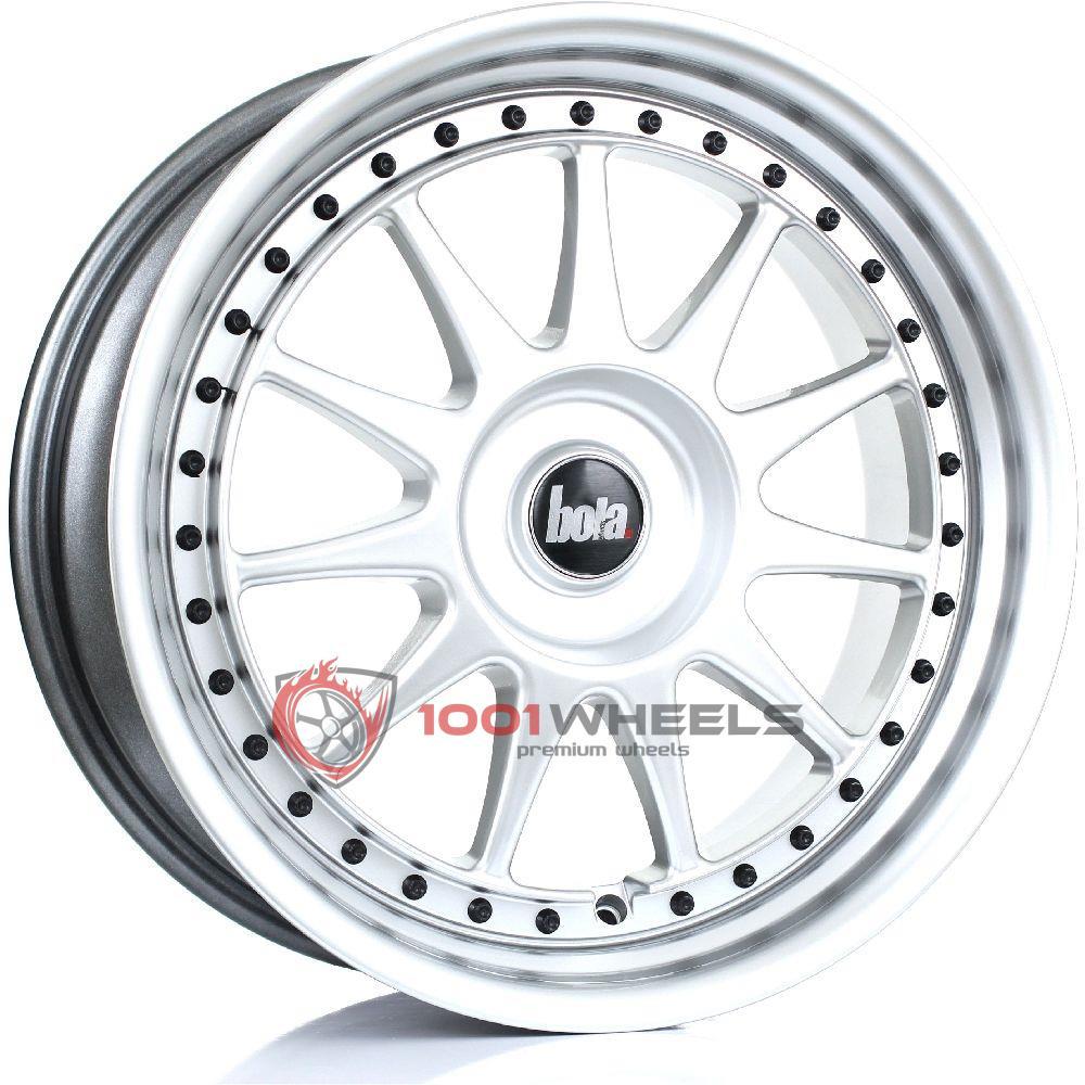 BOLA B4 hyper-silver-black-rivets
