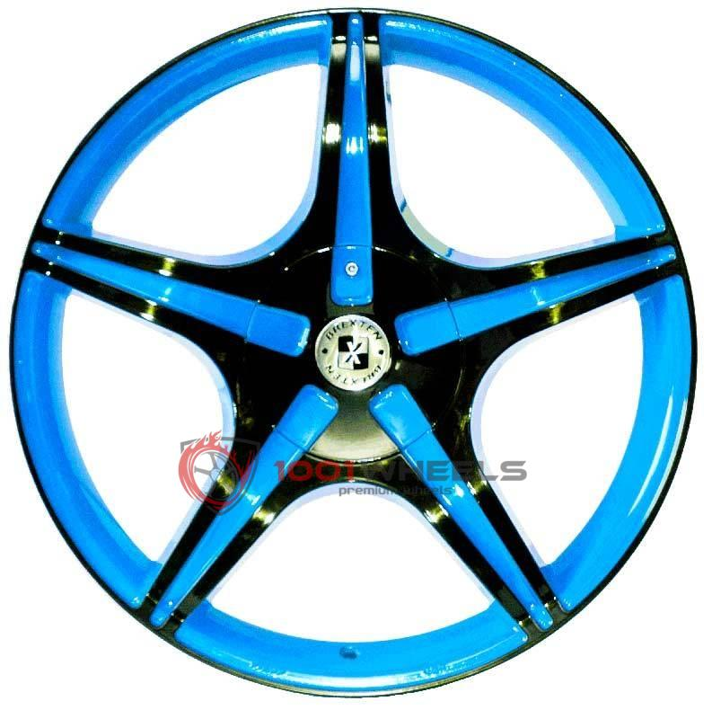 BREXTEN CUSTOM BX-5 blue-and-black-logo