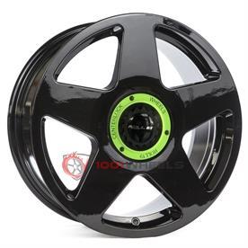 Roll19 R14 gloss-black-center-lock-green