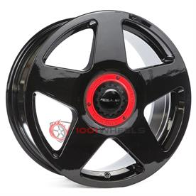 Roll19 R14 gloss-black-center-lock-red